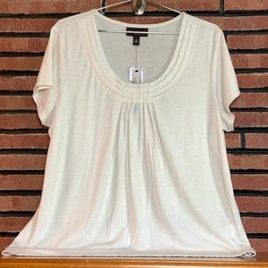 Dana Buchman Off White Short Sleeve Top SZ-XL